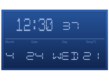 WPF digital gauge control overview