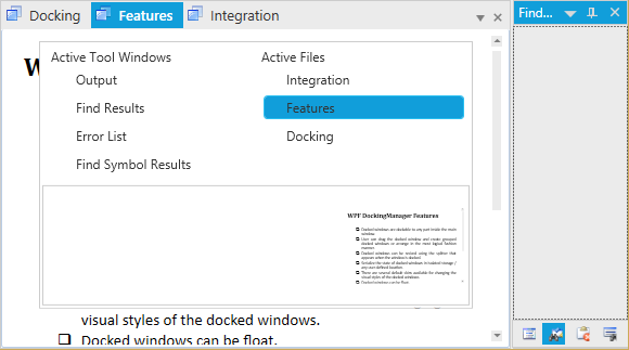 WPF Docking Control | Syncfusion