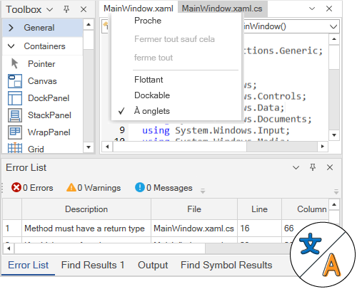 WPF Docking Manager displays localized text