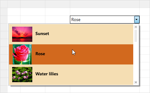 Custom cell types in WPF Excel like grid