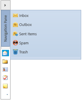 WPF Navigation Pane displays the content in minimized UI