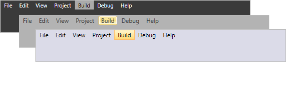 Built-in themes in WPF Menu control
