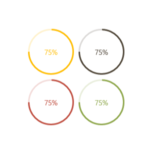 WPF circular progressbar with different colors