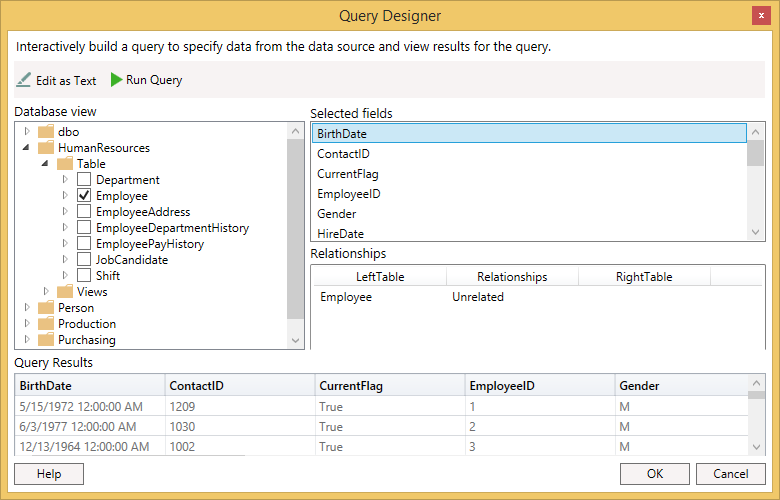 Create Reports using WPF Report Designer Control | Syncfusion