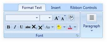 ribbon tab in wpf ribbon control