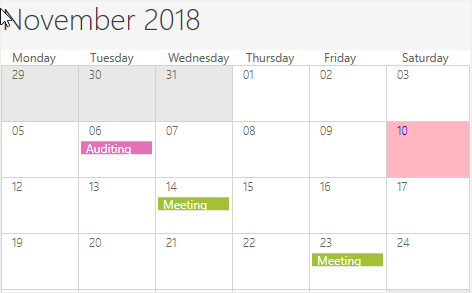Current date customization in WPF Scheduler