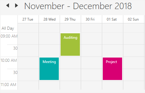 First day of the week in WPF Scheduler