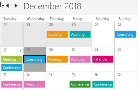 First day of the week in WPF Scheduler month view
