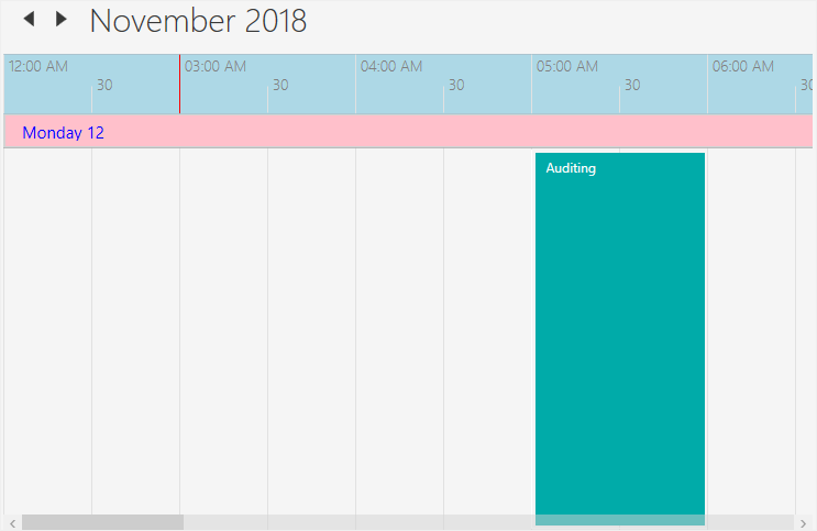 Timeline view customization in WPF Scheduler