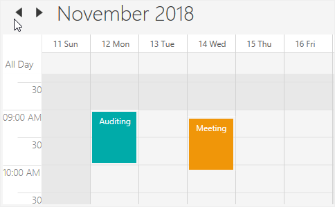 Working hours customization in WPF Scheduler