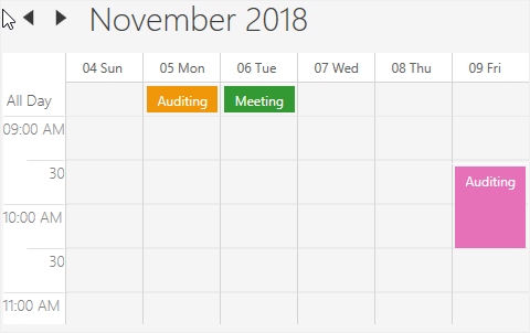 All day and spanned appointments in WPF Scheduler