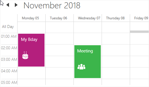 Appointment customization in WPF Scheduler
