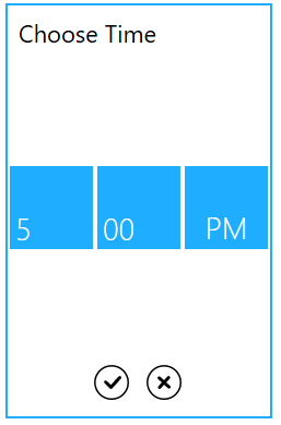 Time selector to choose the time fieds for time picker