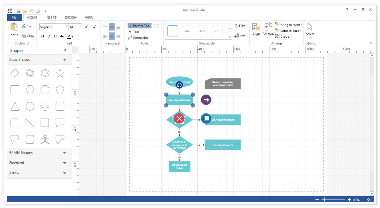 Diagram component is used for symbolic representation of data it is used to create edit save export and print diagrams it has a symbol palette property editor overview window toolbox and menu to provide a ccuart Images