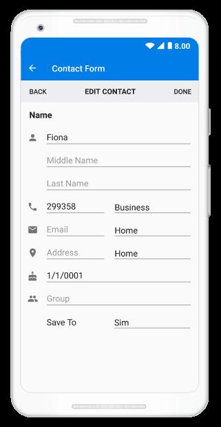 xamarin feedback form Xamarin.Android DataForm  Create data entry forms  Syncfusion