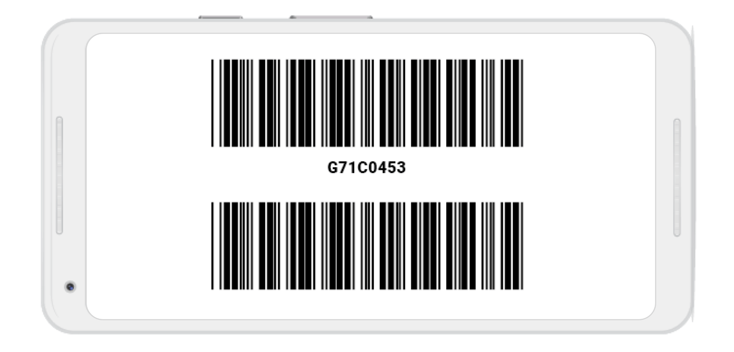 Human-readable barcode text