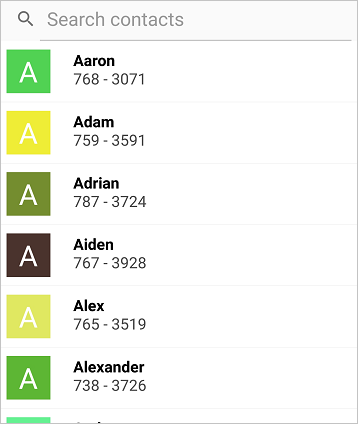 Sort the underlying data in ascending or descending order using Xamarin.Android DataSource
