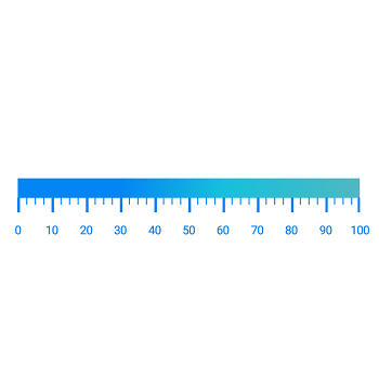 Xamarin.Android Linear Gauge supports gradient color in scales.