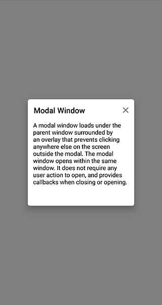 Popup as Modal Window