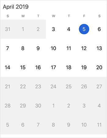 Date restriction support in xamarin.iOS calendar control
