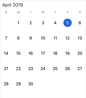 Customize trailing and leading days in Xamarin.iOS calendar