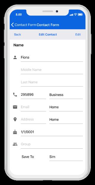 Xamarin iOS DataForm | Create data entry forms | Syncfusion