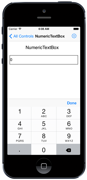 xamarin iOS numeric text box