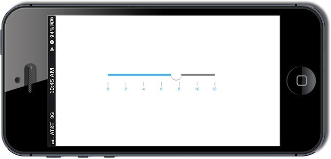 Xamarin iOS Range Slider Control | Syncfusion