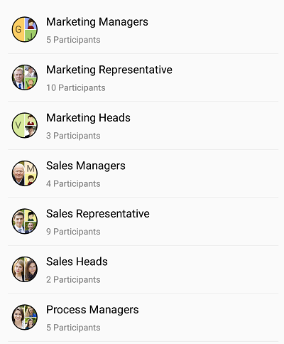 Xamarin.Forms Avatar View showing Group view.