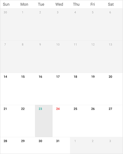 Date restriction support in xamarin forms calendar control
