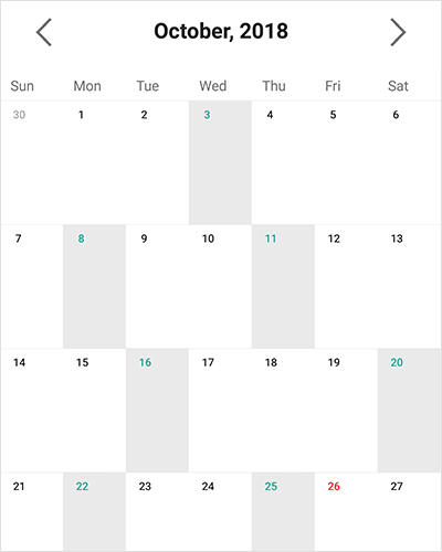 Single or multiple date selection support in Xamarin forms calendar view