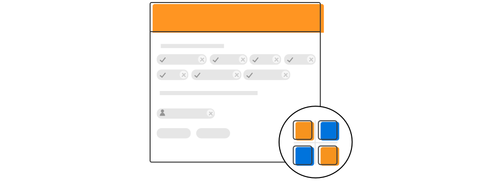 Xamarin.Forms Chips Layout illustrates the way of arrangement
