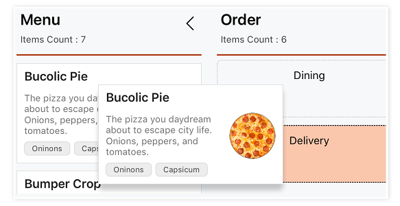 xamarin forms kanban column with customized placeholder