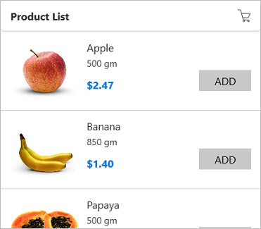 Define sizes for items in the Xamarin.Forms ListView