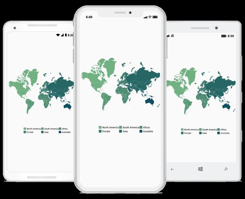 Interactive Xamarin Forms Maps Control | Syncfusion Maps