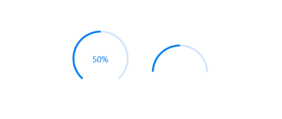 Customize start and sweep angles to have semi-circle appearance in Xamarin.Forms circular progressbar