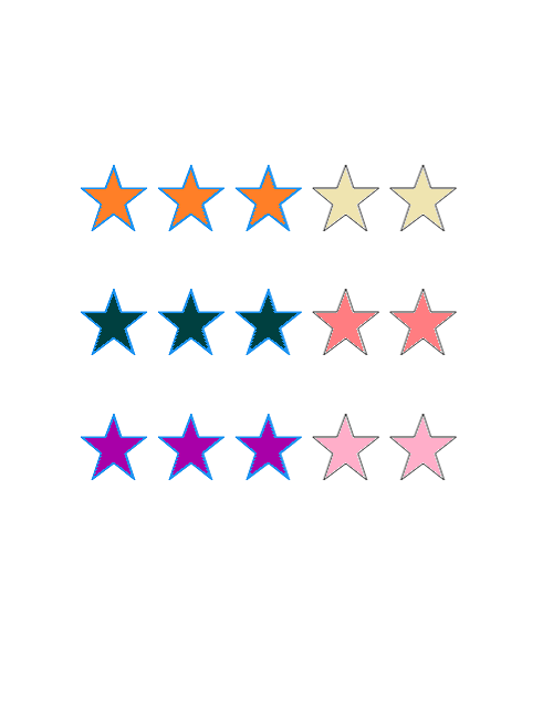 Xamarin.Forms Rating control with customized selected color
