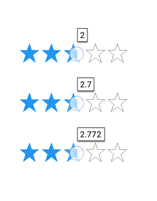 Xamarin.Forms Rating control showing different tooltip precision