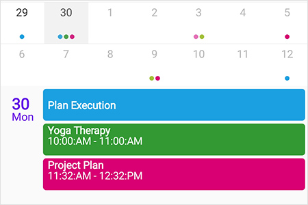 Agenda view in Xamarin.Forms Scheduler