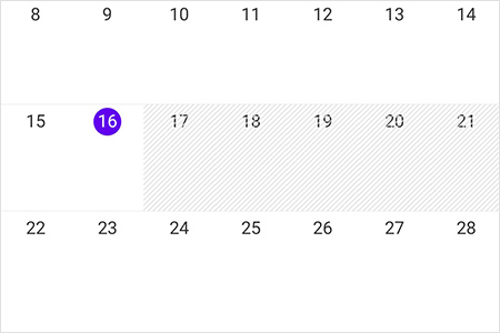Blackout dates in  Xamarin.Forms Scheduler month view
