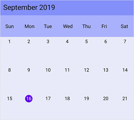 Current date and month customization in Xamarin.Forms Scheduler month view