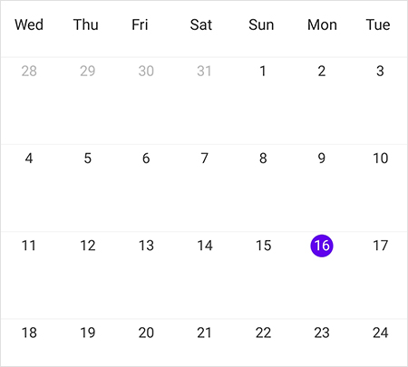 Changed first day of week in Xamarin.Forms Scheduler month view