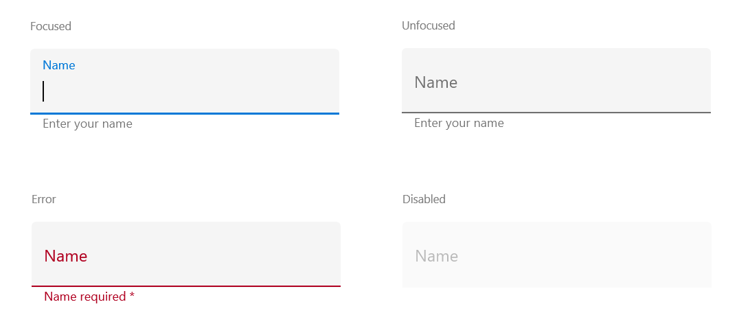 Xamarin Text Input Layout | Floating Label Entry | Syncfusion