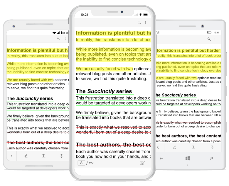 highlight text in pdf images